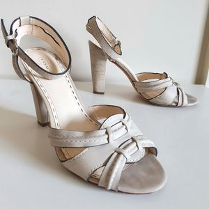 COACH High Heel Sandals US 9.5 cone buckle ankle
